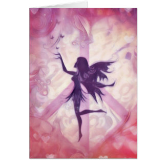 Fairy with butterflies design notecard