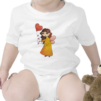 Fairy with Heart Balloon Baby Bodysuits