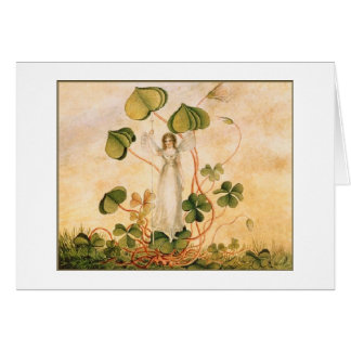 Fairy with Shamrocks (Blank Inside) Card
