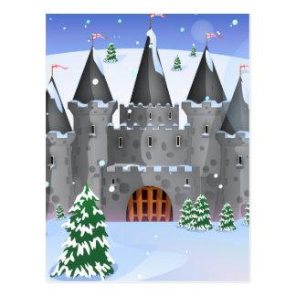 Fairytail Castle Winter Snow Postcard