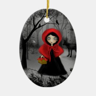 Fairytale Art Red Riding Hood Ornament