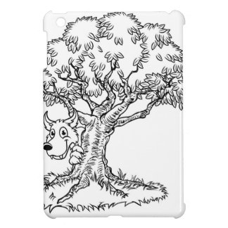 Fairytale Big Bad Wolf and Tree Cartoon iPad Mini Covers