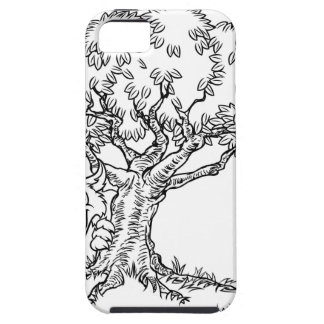 Fairytale Big Bad Wolf and Tree Cartoon iPhone 5 Cover