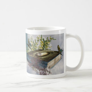 Fairytale Book Butterflies Basic White Mug