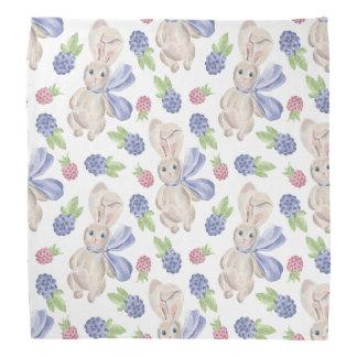Fairytale Bunny Rabbit with Florals Pattern Bandana
