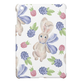 Fairytale Bunny Rabbit with Florals Pattern iPad Mini Cover