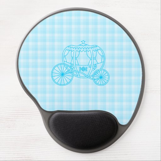 Fairytale Carriage Design in Turquoise Blue Gel Mouse Pad