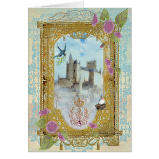 Fairytale Castle In The Mists Greeting Card