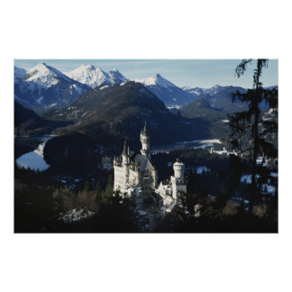 Fairytale Castle in winter Poster
