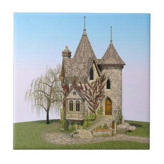 Fairytale Castle Small Square Tile