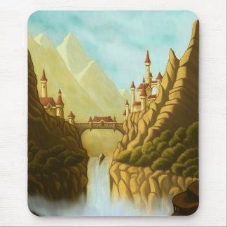 fairytale castles fantasy landscape mousepad