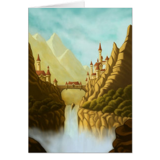 fairytale castles fantasy landscape note card