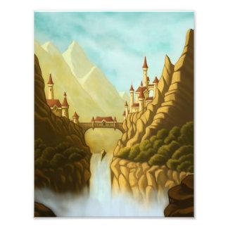 fairytale castles fantasy landscape  photo print