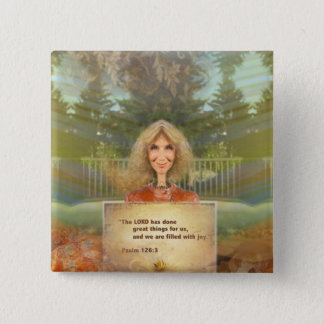 Fairytale Fall Psalm 126 Filled With Joy 15 Cm Square Badge