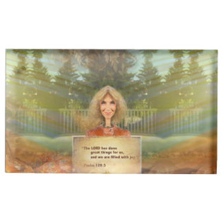 Fairytale Fall Psalm 126 Filled With Joy Place Card Holder