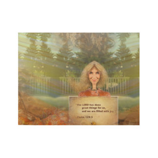 Fairytale Fall Psalm 126 Filled With Joy Wood Poster