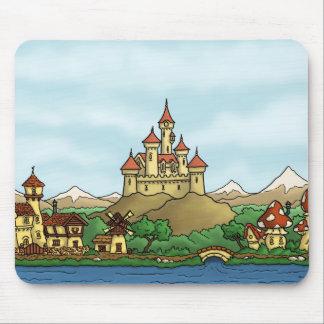 fairytale kingdom fantasy landscape mouse pads