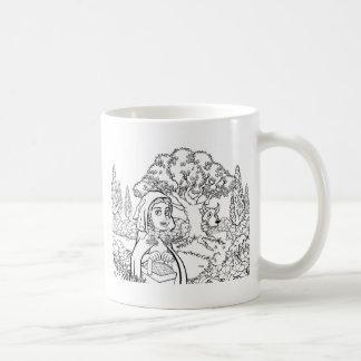 Fairytale Little Red Riding Hood Coloring Scene Coffee Mug