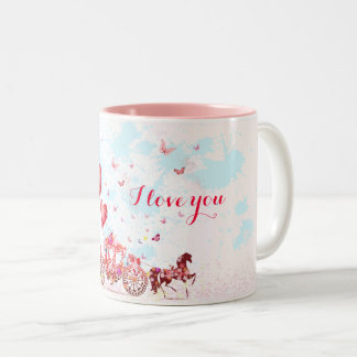 Fairytale Love Two-Tone Coffee Mug