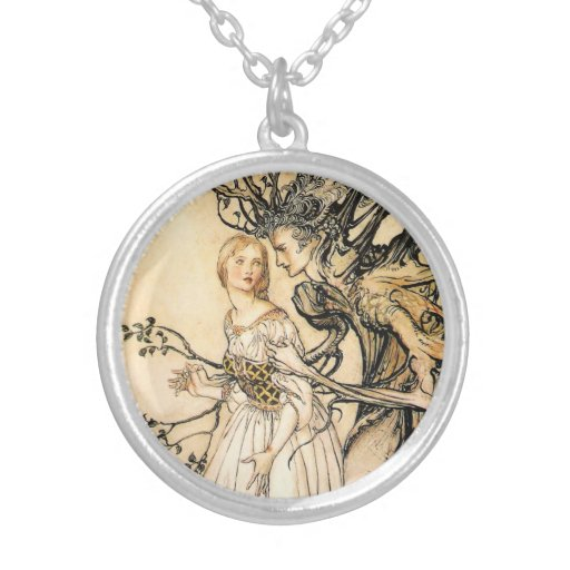 Fairytale Princess and Tree Elf Necklace