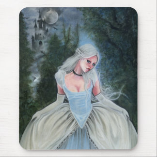 Fairytale princess castle glass slipper mousepad