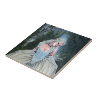 Fairytale Princess Castle Glass Slipper Small Square Tile