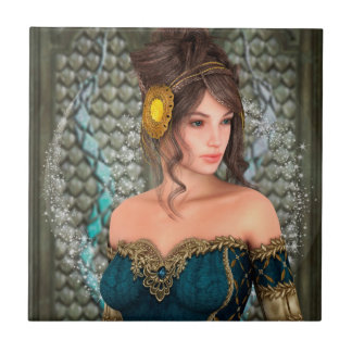 Fairytale Princess Small Square Tile