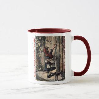 Fairytale Red Riding Hood At Grandma's Door Mug