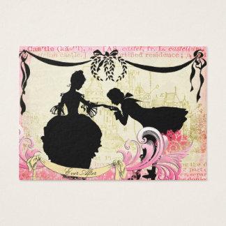 Fairytale Silhouettes & Castle Romantic Couple Business Card