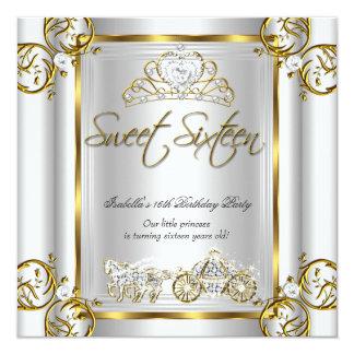 Fairytale Sweet 16 16th Birthday Gold Silver 13 Cm X 13 Cm Square Invitation Card
