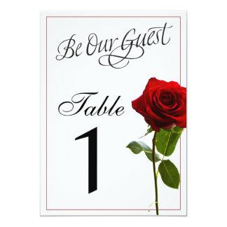 Fairytale Wedding Table Numbers Card