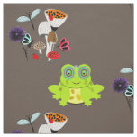 Fairytale Whimsy Frog Nature Garden Fabric