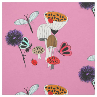 Fairytale Whimsy Nature Garden Fabric