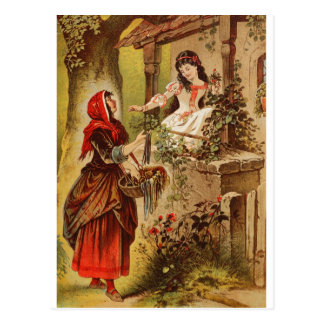 Fairytalesque. Sleeping Beauty and Cinderella Postcard