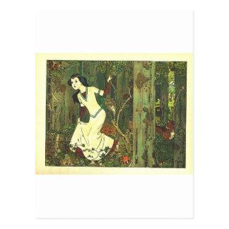 Fairytalesque. Sleeping Beauty and Cinderella Postcard
