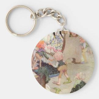 Fairytalesque -Snow White Basic Round Button Key Ring