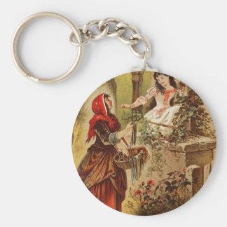 Fairytalesque- Snow White Basic Round Button Key Ring