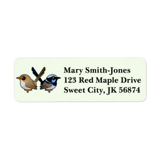 Fairywrens in Love Return Address Label