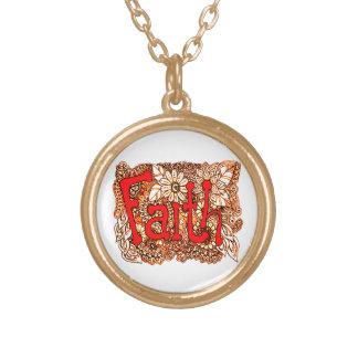 Faith 1 gold plated necklace