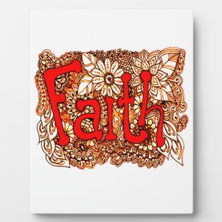 Faith 1 plaque