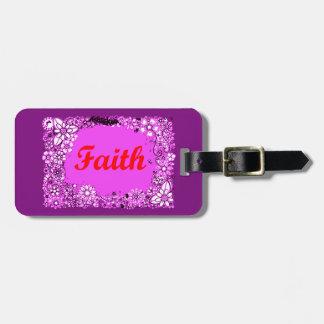 Faith 3 luggage tag
