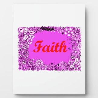 Faith 3 plaques