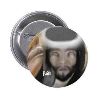 Faith 6 Cm Round Badge