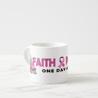 Faith an Patience: Breast Cancer Pink Green Turtle