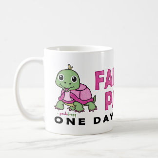 Faith an Patience: Breast Cancer Pink Green Turtle Coffee Mug