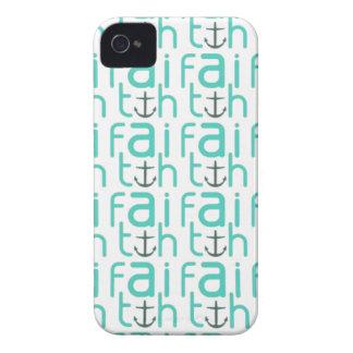 Faith Anchor Pattern iPhone 4 Case