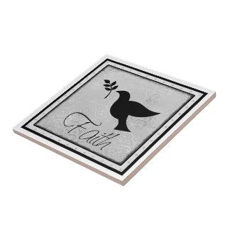 Faith and Dove Small Square Tile