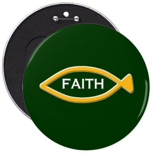 FAITH AND FISH SYMBOL PIN
