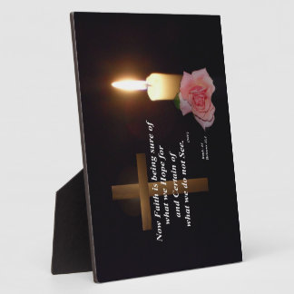 Faith and Hope Bible Verse Plaque