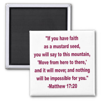 Faith as a Mustard Seed Magnet